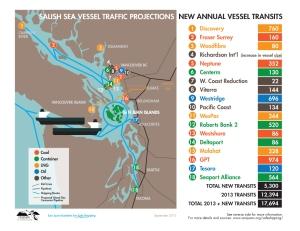 New Vessel Transits through the Salish Sea, Sep 2015