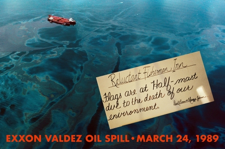 Oil Spreads from the Exxon Valdez